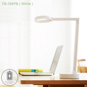 TB-180PB-White. Đèn bàn học Hàn Quốc cao cấp, tích điện 100 giờ.